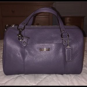 COACH Authentic All Leather Gray Satchel